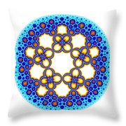 Fractal Escher Winter Mandala 3 Throw Pillow