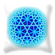 Fractal Escheresque Winter Mandala 4 Throw Pillow