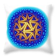Fractal Escheresque Winter Mandala 6 Throw Pillow
