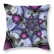 Fractal Fantasy Butterflies Throw Pillow