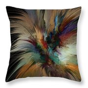 Fractal Feathers Throw Pillow