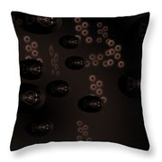 Fractal Fish Swimming In Murkey Water - Featured In Comfortable Art Group Throw Pillow