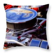 Fractal Flags Throw Pillow