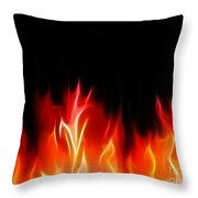 Fractal Flames Throw Pillow