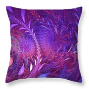 Fractal Flower Fields Throw Pillow