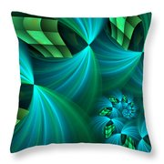 Fractal Gently Worn Throw Pillow