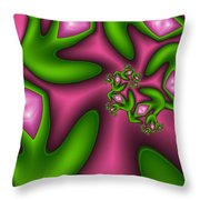Fractal Happy Jewels Throw Pillow