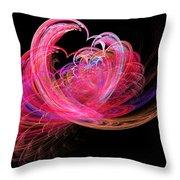 Fractal - Heart - Lets Be Friends Throw Pillow
