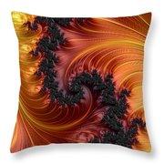 Fractal Heat - A Fractal Abstract Throw Pillow