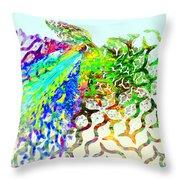 Fractal - Hummingbird Throw Pillow