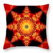 Fractal In The Centre Throw Pillow