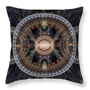Fractal Inception Throw Pillow by Martin Capek