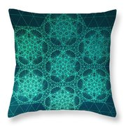 Fractal Interference Throw Pillow