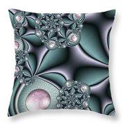 Fractal Jewellery Throw Pillow