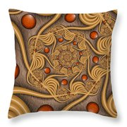 Fractal Jewelry Throw Pillow