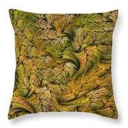 Fractal Leaf Mat-- 2 Throw Pillow