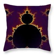 Fractal Mandelbrot Seamless Throw Pillow