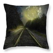 Fractal Moon Throw Pillow