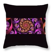 Fractal Multicolored Depth Throw Pillow