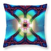 Fractal Nouveau Throw Pillow
