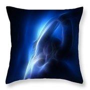 Fractal Nude 4030 Throw Pillow