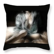 Fractal Nude 8637 Throw Pillow
