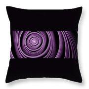 Fractal Purple Swirl Throw Pillow