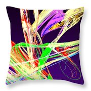 Fractal - Pussy Willows Throw Pillow