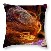 Fractal - Rise Of The Phoenix Throw Pillow