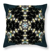 Fractal Seahorses Throw Pillow by Derek Gedney