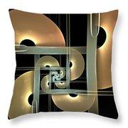 Fractal Semicircles Throw Pillow