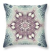 Fractal Snowflake Pattern 1 Throw Pillow