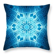 Fractal Snowflake Pattern 2 Throw Pillow