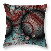 Fractal Somewhere 2 Throw Pillow