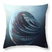Fractal Sphere  Throw Pillow