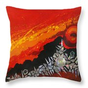 Fractal Sunrise Throw Pillow