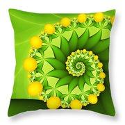 Fractal Sweet Yellow Fruits Throw Pillow
