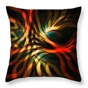 Fractal Swirl Throw Pillow