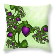 Fractal Tears Of Joy Throw Pillow