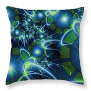 Fractal Time Travel Throw Pillow