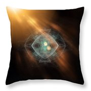 Fractal Ufo Throw Pillow