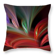 Fractal Vortex Swirl Throw Pillow