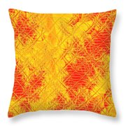 Fractalia For Red And Yellow Colors V Throw Pillow