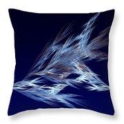Fractals - Birds In Flight Throw Pillow