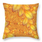 Fractals Of A Feather Throw Pillow