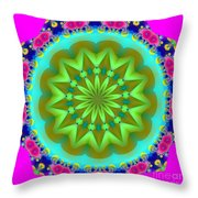 Fractalscope 28 Throw Pillow