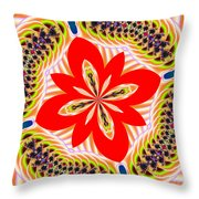 Fractalscope 6 Throw Pillow
