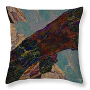 Fracture Section Il Throw Pillow