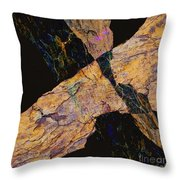Fracture Section Vl Throw Pillow