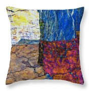 Fracture Section Xvii Throw Pillow